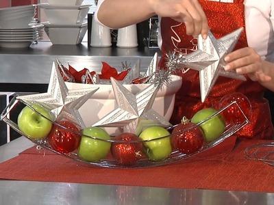 Tip. Decoración de navidad con frutas
