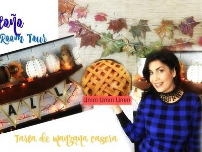 Tour de mi sala en Otoño | Receta fácil tarta de Manzana | Fall Living Room Tour ♥