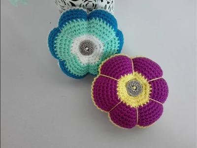 Tutorial alfiletero flor tejido en crochet