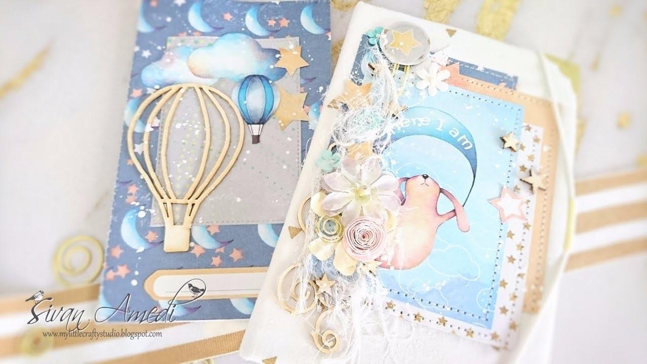 TUTORIAL carpeta con cuaderno de bebé. Folder with a notebook for a baby. Kopra projects.