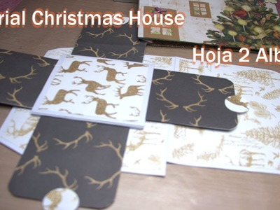 Tutorial christmas house con mini album ???? hoja 2
