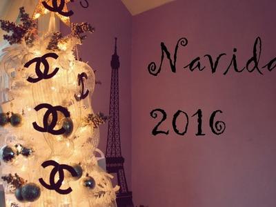 White christmas tree chanel | como decorar el arbol de navidad con cinta