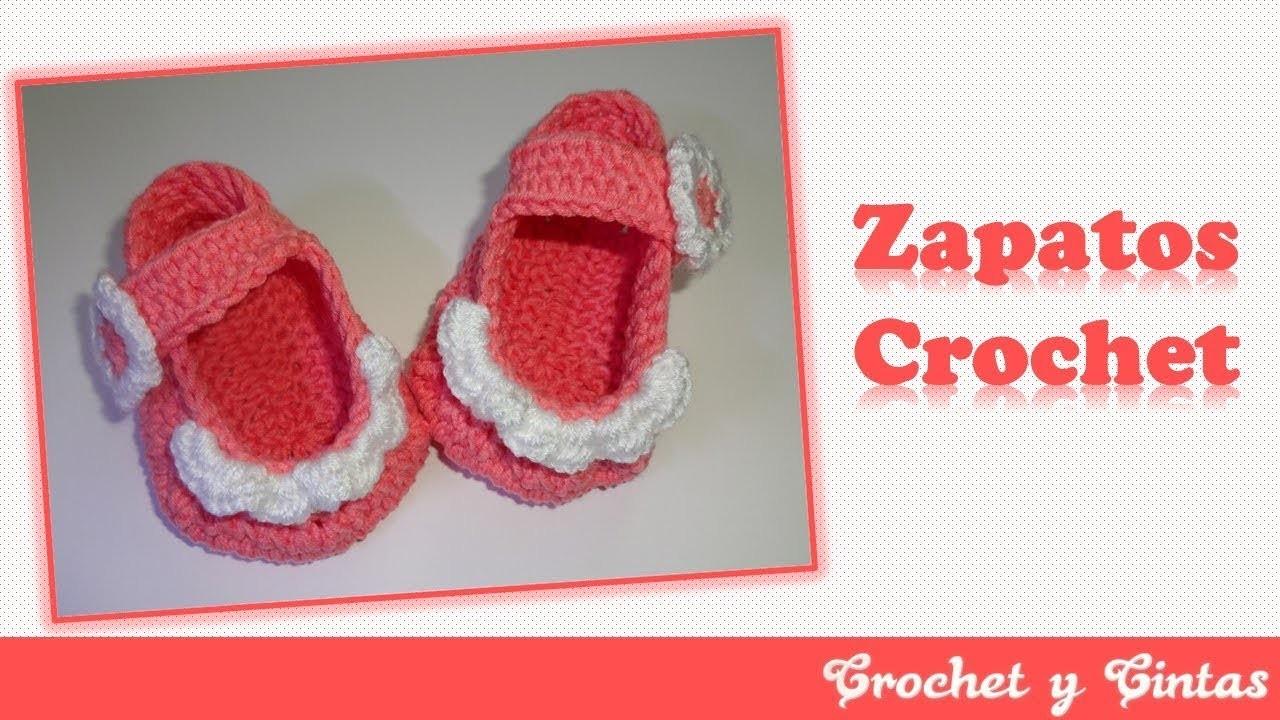 Zapaticos, escarpines crochet para bebés ???? Parte 2 de 2