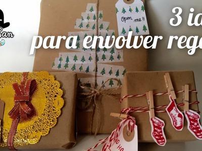 3 maneras de decorar y envolver regalos de Navidad - Gift wrapping ideas