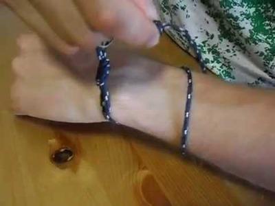 Ajuste de pulsera marinera en una muñeca de 17 cm y otra de 13 cm de perimetro