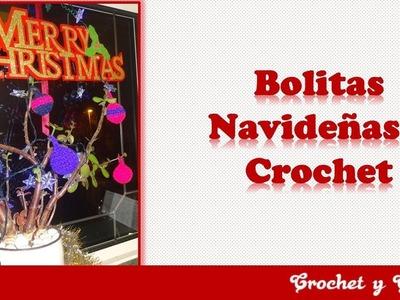 Bolitas navideñas tejidas a crochet