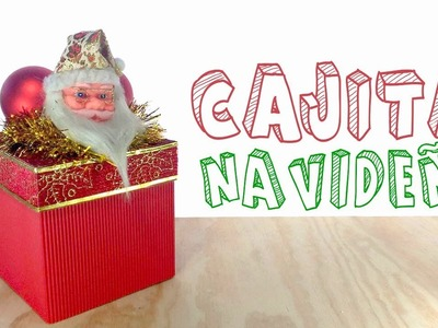 Caja navideña hecha con cartón corrugado│Candy Bu