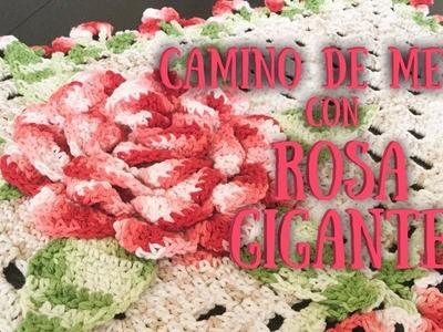 CAMINO DE MESA CON ROSA GIGANTE (1.3)