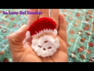 Carita de Santa Claus tejida  a Crochet
