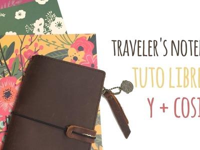 Cómo crear libretas para Traveler's Notebook sin grapadora - TUTORIAL Scrapbook