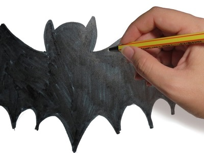 COMO DIBUJAR MURCIELAGOS: facil para Halloween paso a paso