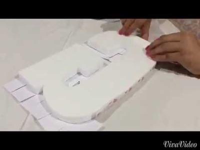 Cómo elaborar letras decoradas. Fácil, rápido y económico.