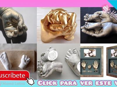 CÓMO HACER LAS HUELLAS DE TU BEBÉ EN 3D FÁCIL EN CASA