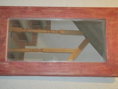 Como hacer marco de madera para espejo (#2) FACIL y rapido