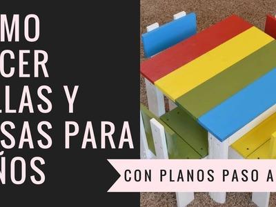 COMO HACER MESAS Y SILLAS PARA NIÑOS CON PALET | Empo | EP. 13