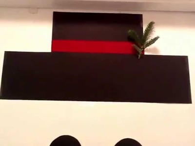Como hacer un Mono de nieve para decorar tu casa  por dentro en Navidad :)