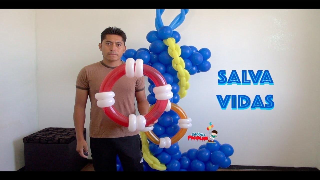 Como hacer un salva vidas con globos muy fácil