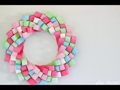 Cómo hacer una corona de papel con tiras