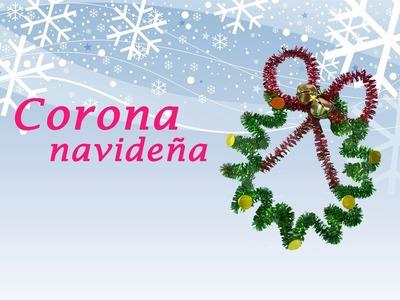 CORONA NAVIDEÑA CON LIMPIAPIPAS » Manualidades Navidad