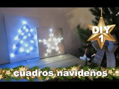 DECORACION NAVIDEÑA   COMO HACER CUADRO LUMINOSO