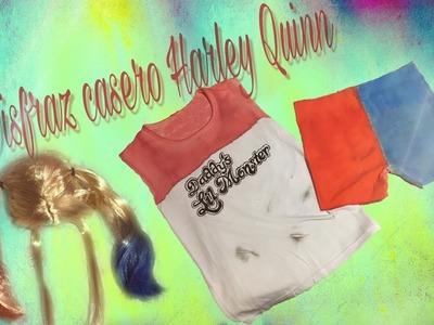 Difraz de Harley Quinn de Escuadrón Suicida - tutorial - Halloween. carnaval