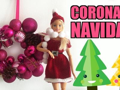 ????DIY???? Cómo hacer una Corona de Navidad para la casa de Barbie ¡Muy Fácil!