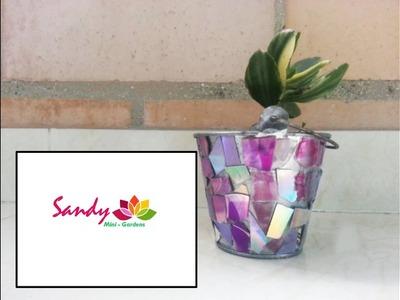 DIY Maceta con mosaico. Mosaic Planters