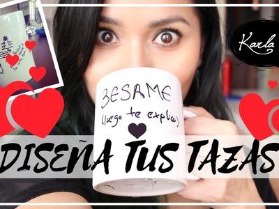 DIY: Tazas con Marcador Indeleble ¿Funciona? - Idea de REGALO para SAN VALENTÍN ♥   #FemLife :)
