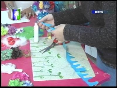 Ebisu arte y creatividad Proyecto Flores de tela con marabu