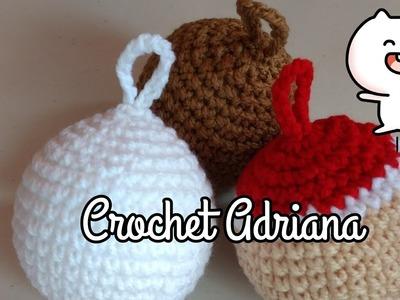 Esfera Navideña en Crochet. Crochet Adriana