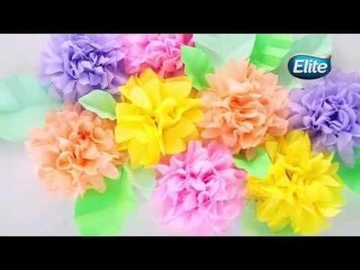 Hagámoslo Elite: Flores de papel para decorar
