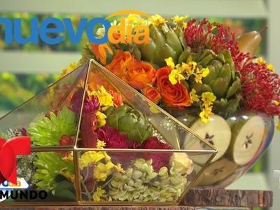 ¡Aprende cómo hacer arreglos florales para tu casa! | Un Nuevo Día | Telemundo