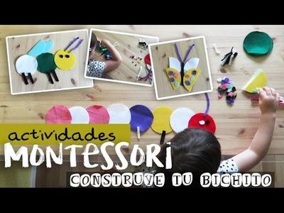 Juegos Montessori para niños ❤ Construye tu bichito | Mama Tatuada