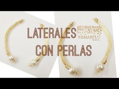 LATERALES EN ALAMBRES CON PERLAS  (BISUTERÍA)