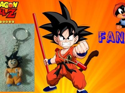 LLavero de Goku en Pasta Flexible
