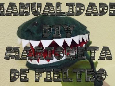 Manualidades DIY: marioneta de cocodrilo con fieltro || La Casita de Gominolas