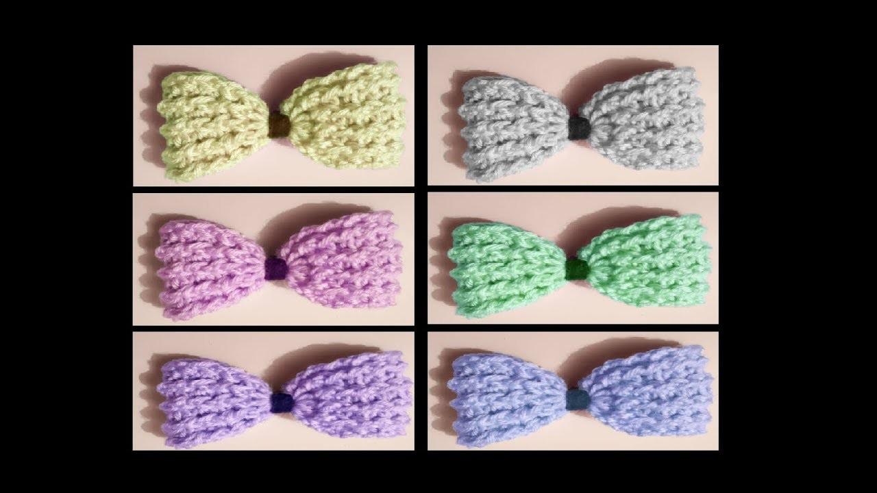 Moño a crochet. bow to crochet