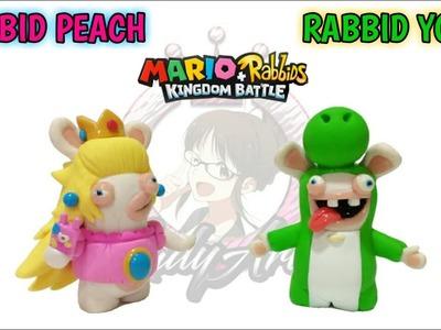 Peach & Yoshi Rabbids   Kingdom Battle   Polymer Clay Tutorial