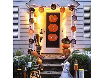 Puerta de halloween ideas de decoración