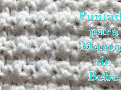 Puntada en gancho para mantas de bebé fácil y rápida de hacer #102 por Crochet for Baby