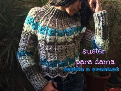 Sueter para Dama Tejido a Crochet