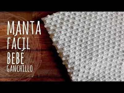 Tutorial Manta o Cobija Bebé Muy Fácil Ganchillo | Crochet