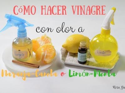 Vinagre con olor a naranja o a limón