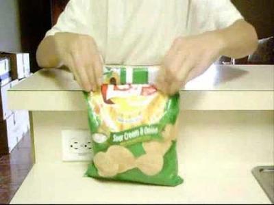 A cerrar bolsas de papas