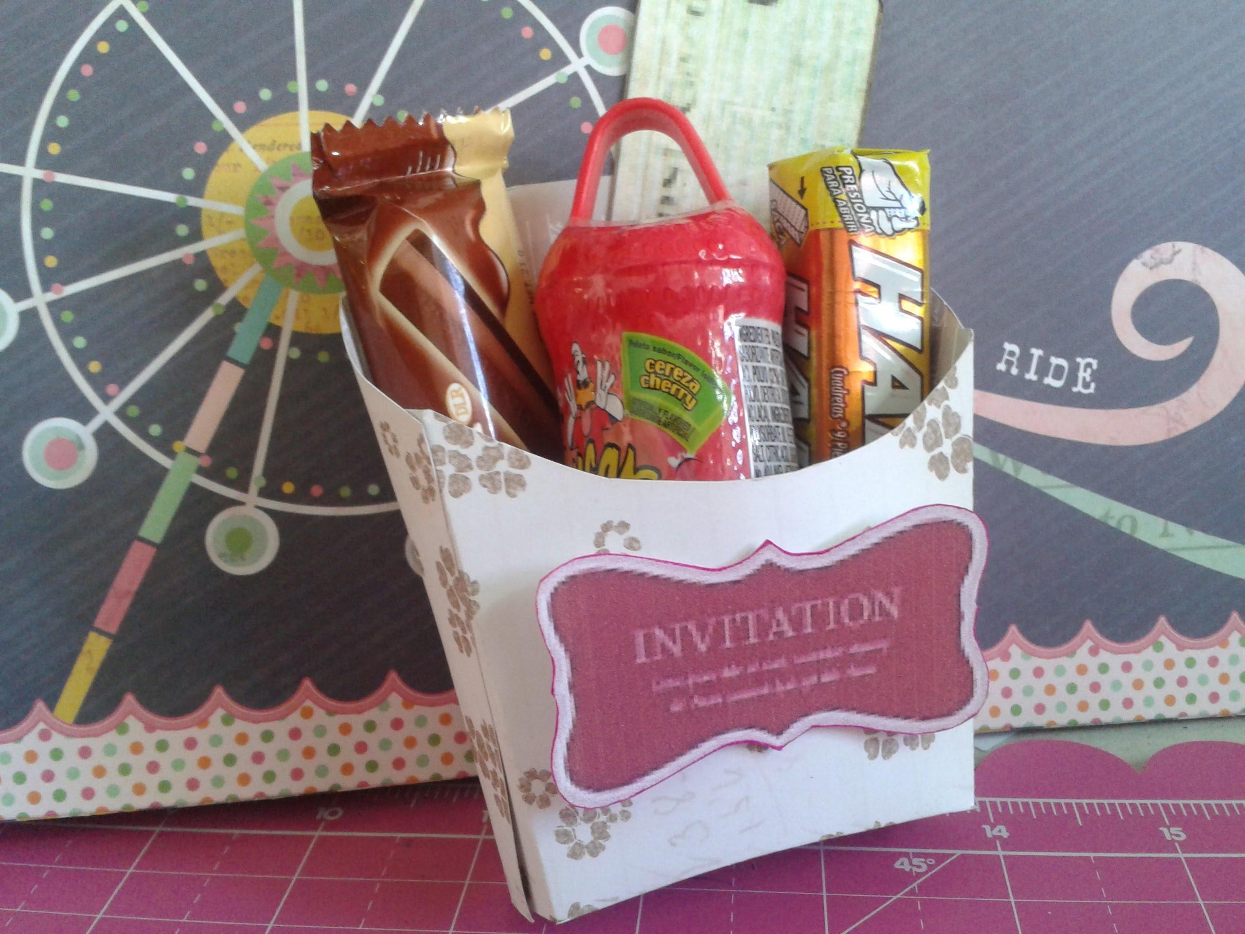 Caja para regalo - caja de papas