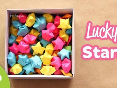 Como hacer estrellas de papel - Estrellitas Infladas. Lucky Stars How-to