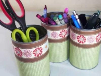Cómo hacer organizador para suministros de manualidades