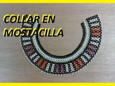 Como hacer un collar en mostacilla 6
