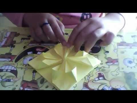 Como hacer una carta en forma de flor