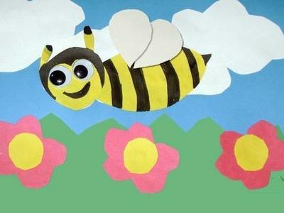 Como hacer una tarjeta de abejita para la primavera